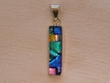 Sterling Silver Jewelry - Dichroic Glass Pendant  (127)