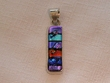 Sterling Silver Jewelry - Dichroic Glass Pendant  (131)