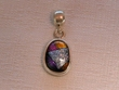 Sterling Silver Jewelry - Dichroic Glass Pendant  (132)