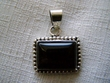 Southwest Style Sterling Silver Pendant -Rectangle
