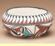 "Tigua Indian Pottery Bowl  - 7""x3"""