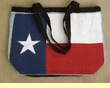 Southwestern Flat Bottom Purse -Texas Flag