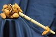 "Andean Indian Seed Pod Rattle 9""  (129)"