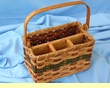 Handmade Amish Basket -Table Organizer Basket  (EM21)