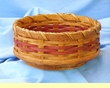 "Handmade Amish Basket 8"" -Lazy Susan Basket  (EM22)"