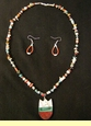 "Native American Navajo Jewelry -Necklace & Earring Set 20"" (147)"