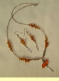 "Native American Navajo Jewelry -Necklace & Earring Set 21"" (161)"