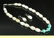 "Apache Indian Jewelry -Necklace & Earring Set 18"" (123)"