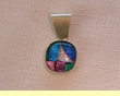 Sterling Silver Jewelry - Dichroic Glass Pendant  (133)