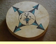"Tigua Indian Painted Drum 16"" -Kachina"