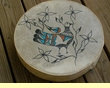 Painted Drum -Tigua Indian Rain Bird 16""