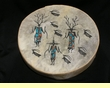 Painted Drum -Tigua Indian Warriors 16""