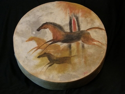 Native Tarahumara Indian Painted Drums