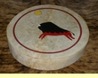 "Painted Tarahumara Hand Drum 16""  -Running Buffalo"