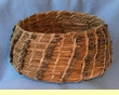 "Native Kumeyaay Mission Indian Pine Needle Basket 7x3""  (kb6)"