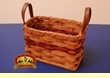 Leather Handled Handmade Amish Basket 5x8   (EM12)
