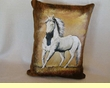 Western Cowhide Pillow - Horse  (24)