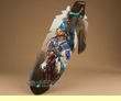 Native American Painted Cedar Feather -Spirit Brothers