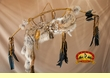 "Native Navajo Bow & Coyote Quiver 44"" -Antique Gold (B77)"