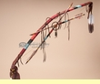 "Hand Beaded Pueblo Medicine Bow & Arrow Set 41""  (ba81)"