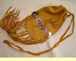 "Native American Deer Skin Gathering Bag 10"" -Yacqui"