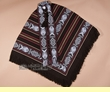 Woven Otavalo Indian Pancho -Chocolate Brown  (p17)