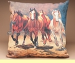 "Outdoor Climaweave Patio Pillow 20""  -Running Horses  (p12)"