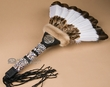 "Native American Creek Indian Dance Fan 22""  (f81)"