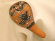 Hand Carved Gourd Rattle 5""