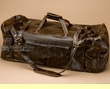 "Large Rustic Leather Duffle Bag 22"" Brown (4)"