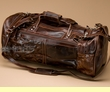 "Medium Rustic Leather Duffle Bag 20"" (5)"
