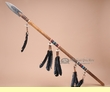 "Navajo Native American Rawhide Covered Spear  54""  (L3)"