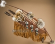 "Beaded Bow, Arrow & Coyote Quiver Set 47"" -Creek  (b49)"