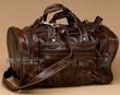 "Small Rustic Leather Duffle Bag 12""  (6)"