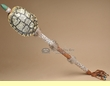 "American Indian Turtle Shell Rattle 30"" -Creek"