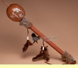 "Painted Tarahumara Indian Gourd Rattle 18"" -Kokopelli   (r14a)"