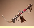 "Native American Antler Peace Pipe 24"" -Tigua   (p82)"