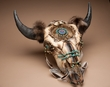 "Indian Dreamcatcher Buffalo Skull 24"" -Creek  (ps91)"