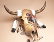 Painted Steer Skull 22x20 -Buffalo Dancer  (PS20)