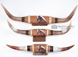 "3 Set - Painted Steer Horns 27"" -Horse  (psh4)"