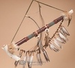 "Native American Draped Antler Pipe 23"" -Navajo (68)"