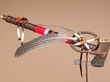 "Native American Antler Peace Pipe 13"" -Tigua  (p92)"