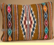 Woven Zapotec Southwest Style Wool Pillow 12x16 (u)