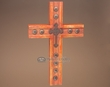 "Western Hand Carved Wooden Cross 17""  (c31)"