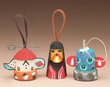 3 pc. Native American Ornament Set -Navajo Kachina  (o23)