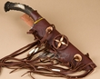 "Native American Antler Knife & Sheath 15.5"" -Right Hand  (k37)"