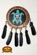 "Native American Navajo Rawhide Shield 14""  -Mandela (27)"