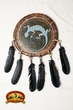 "Navajo Native American Rawhide Shield 14""  -Mandela (28)"