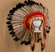 Antique Style Navajo Ceremonial Headdress- War Bonnet  (h7)