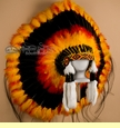 Native American Pow Wow Regalia Headdress -Warbonnet  (h3)